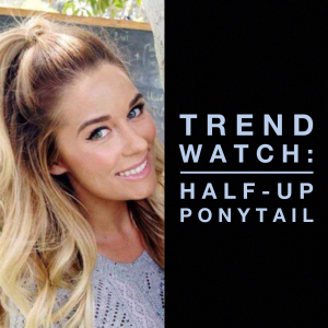 Check out the half-up, half-down high ponytail, one of the hottest hair trends of 2015.