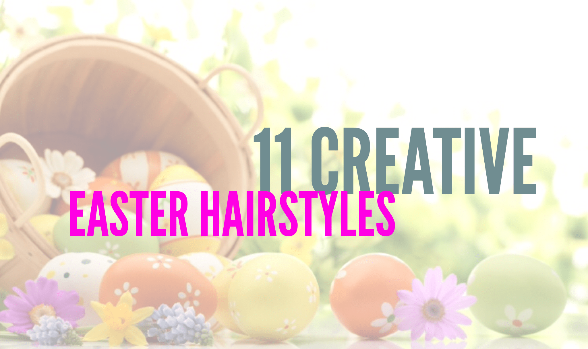 Check out some creative Easter hairstyles that you can wear this year. Even if you don't celebrate Easter, some of these are fun spring styles that anyone can wear.