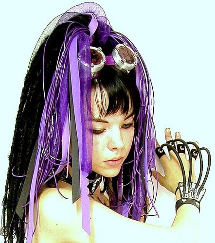 Cybergoth Hairstyles- See some other cool hairstyles of unusual, yet popular subcultures...