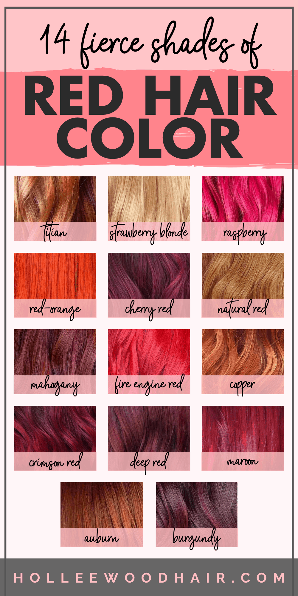 14 Fierce Shades Of Red Hair Color